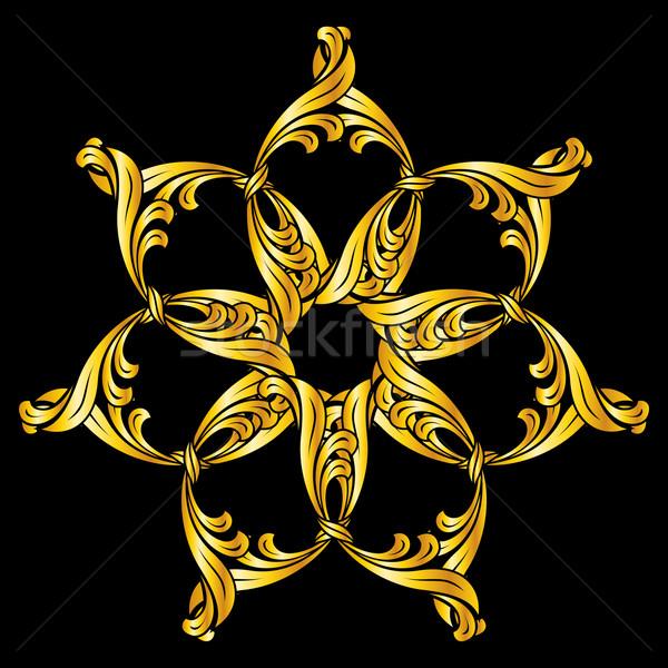 Kwiatowy wzór wzór kwiatowy złoty streszczenie Zdjęcia stock © dvarg
