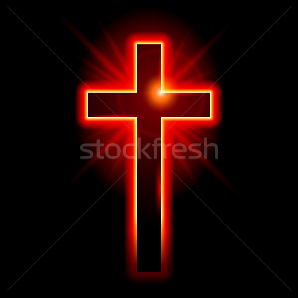 Christian symbole crucifix illustration noir Pâques Photo stock © dvarg