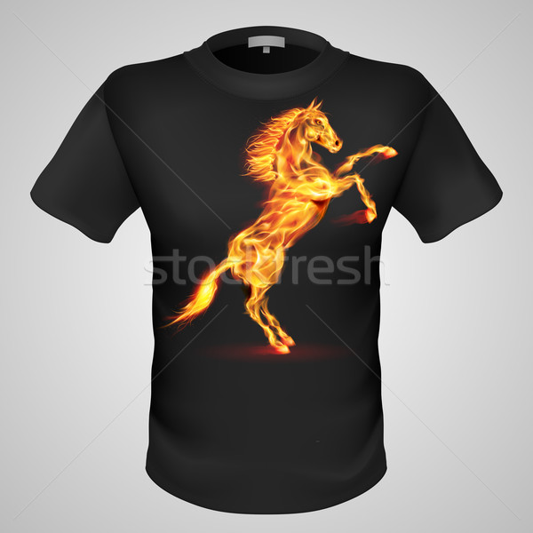 Male t-shirt with print.  Stock photo © dvarg