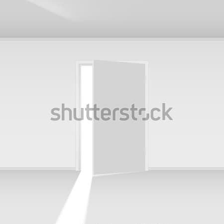 выход двери свет иллюстрация пусто стены Сток-фото © dvarg