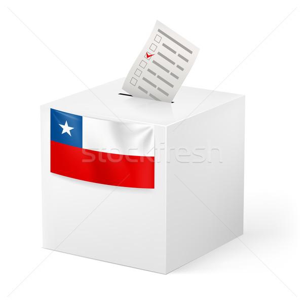 Szavazócédula doboz szavazás papír Chile választás Stock fotó © dvarg