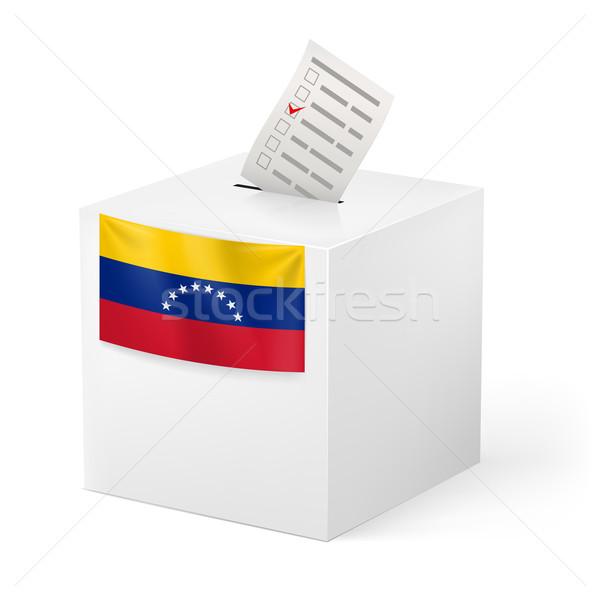 Ballot box with voting paper. Venezuela Stock photo © dvarg