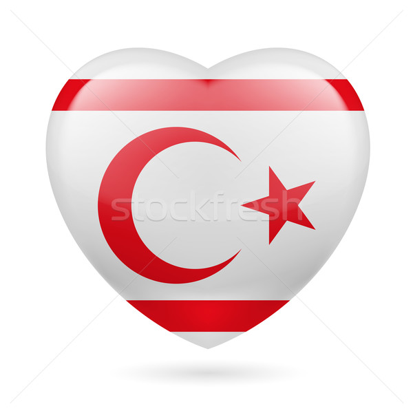 Heart icon of Northern Cyprus Stock photo © dvarg