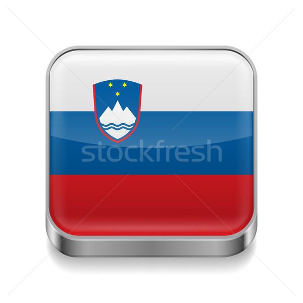 Metal  icon of Slovenia Stock photo © dvarg