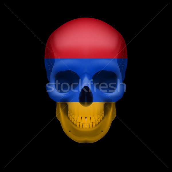 Armenian flag skull Stock photo © dvarg