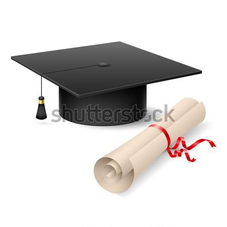 Graduation cap and diploma Stock photo © dvarg