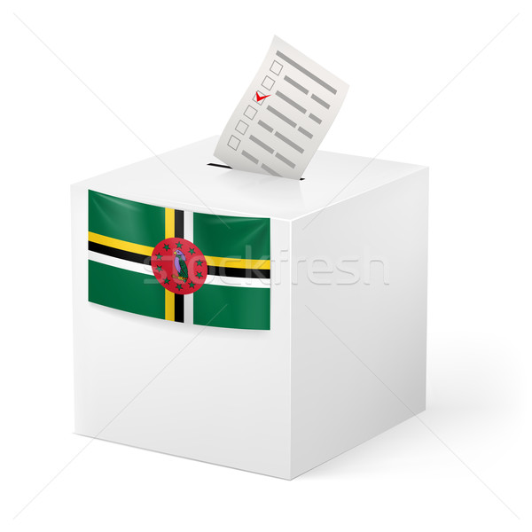 Ballot box with voting paper. Dominica Stock photo © dvarg