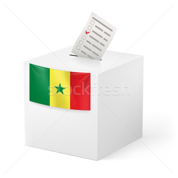 Oylama kutu kâğıt Senegal seçim Stok fotoğraf © dvarg