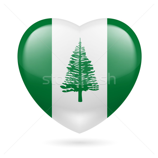 Heart icon of Norfolk Island Stock photo © dvarg
