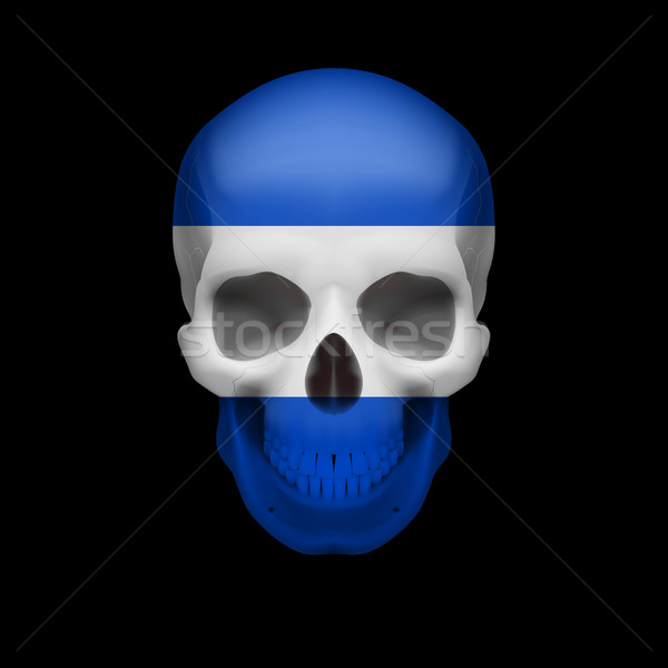 Salvadoran flag skull Stock photo © dvarg