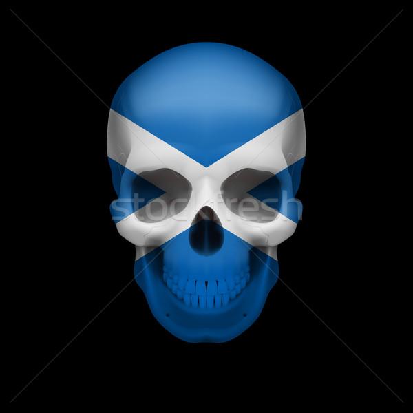 Scottish flag skull Stock photo © dvarg