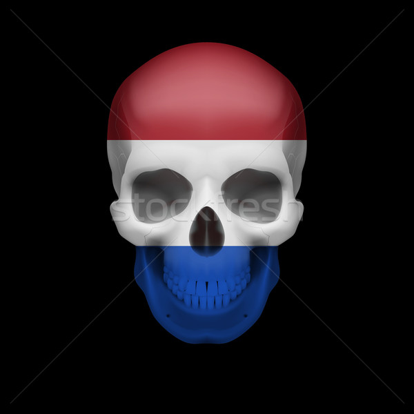 Dutch flag skull Stock photo © dvarg