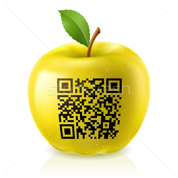 Yellow apple and QR Code Stock photo © dvarg