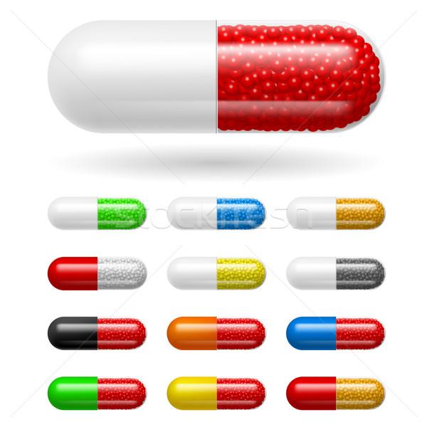 Diferente médico ilustração branco hospital grupo Foto stock © dvarg