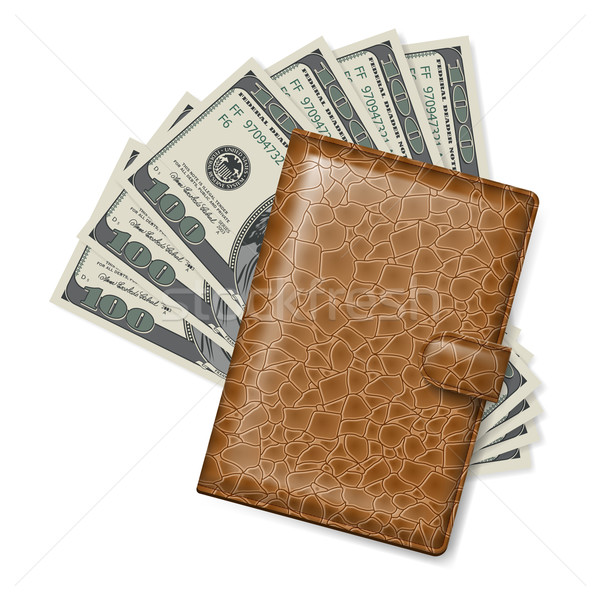 Leather wallet Stock photo © dvarg