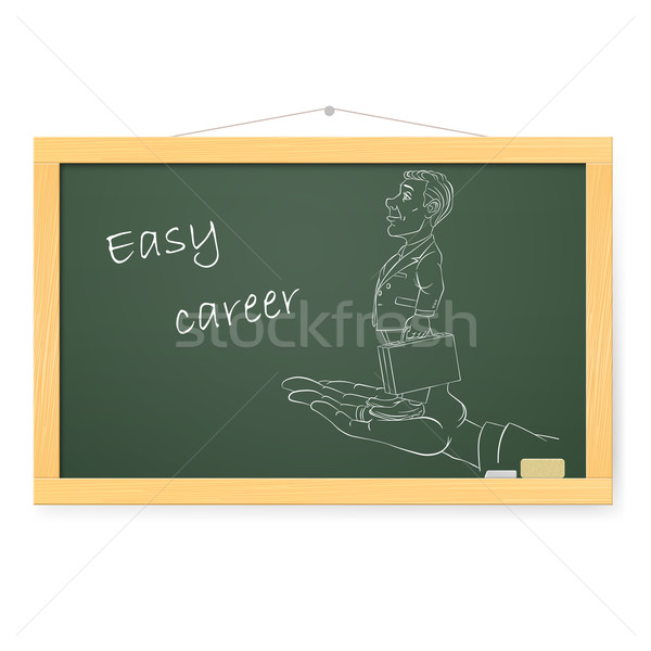 Blackboard zakenman illustratie witte kantoor school Stockfoto © dvarg