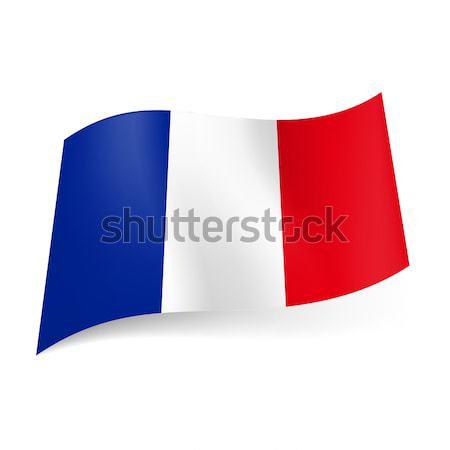 Flagge · Frankreich · Blau · Weiß · Rot · Vertikalen