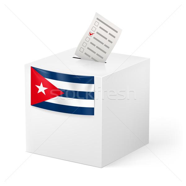 Ballot box with voicing paper. Cuba. Stock photo © dvarg