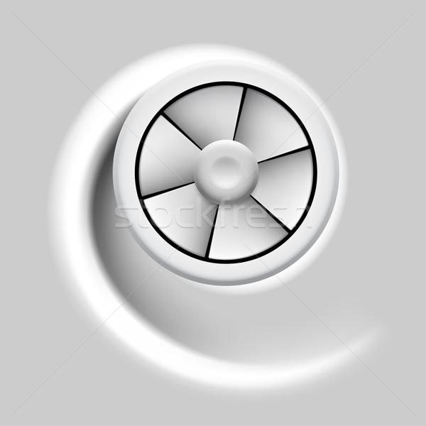 Wentylator elektryczne fan ruchu efekt szary Zdjęcia stock © dvarg