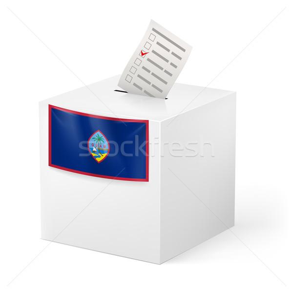 Ballot box with voting paper. Guam Stock photo © dvarg