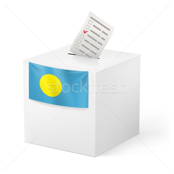 投票 ボックス 投票 紙 パラオ 選挙 ストックフォト © dvarg