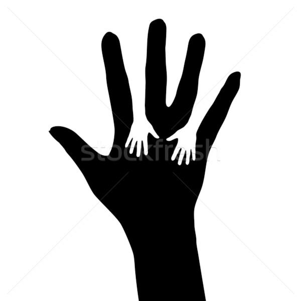 Segítő kéz illusztráció fehér terv munka biztonság Stock fotó © dvarg