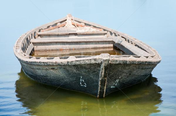 古い 漁船 水 テクスチャ 木材 ストックフォト © dvarg
