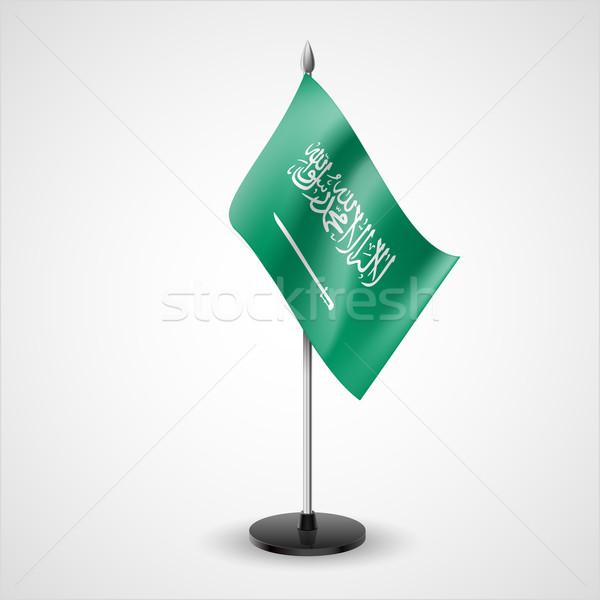 Asztal zászló Szaúd-Arábia világ konferencia asztal Stock fotó © dvarg