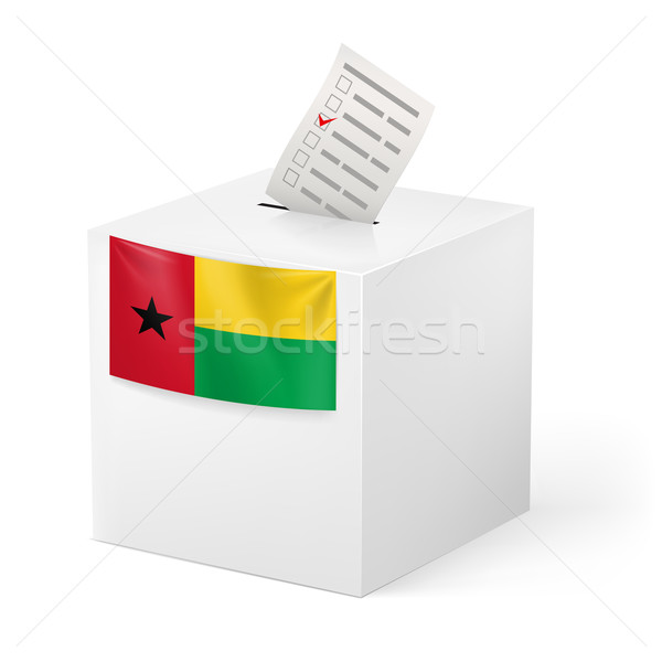 Ballot box with voting paper. Guinea-Bissau Stock photo © dvarg