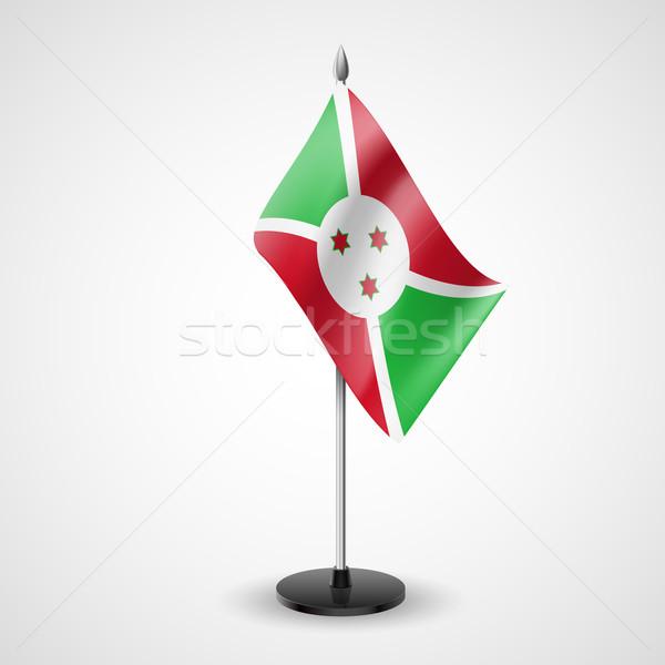 Tabela bandeira Burundi mundo conferência secretária Foto stock © dvarg