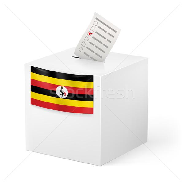 Stock fotó: Szavazócédula · doboz · szavazás · papír · Uganda · választás
