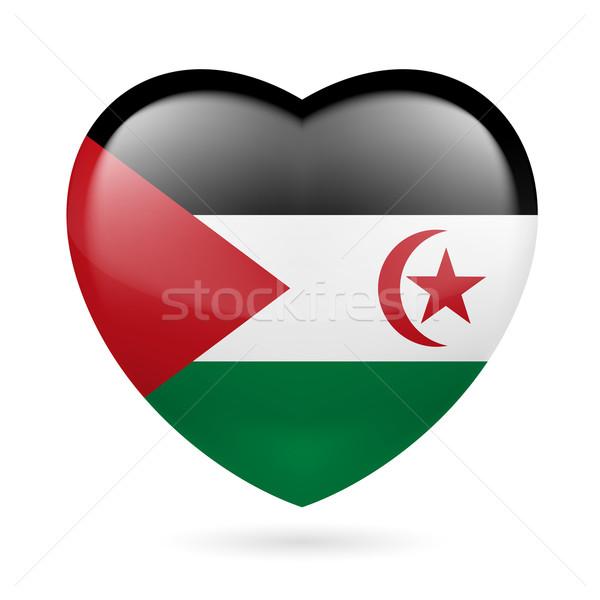 Kalp ikon Arap demokratik cumhuriyet sevmek Stok fotoğraf © dvarg
