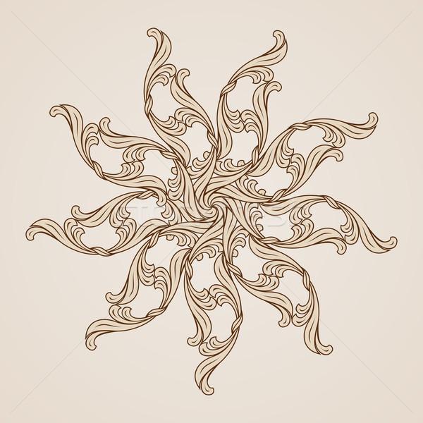 Kwiatowy wzór świetle ciemne brązowy Zdjęcia stock © dvarg