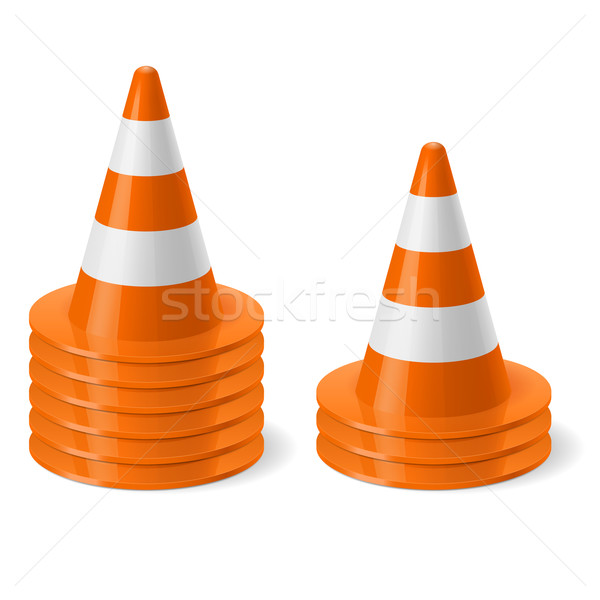 Piles of road cones Stock photo © dvarg