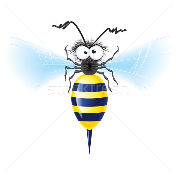 Alegre abelha branco mão sorrir livro Foto stock © dvarg