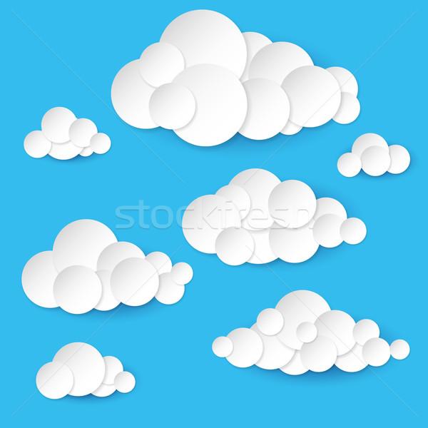 Открытка, открытка объемные облака
