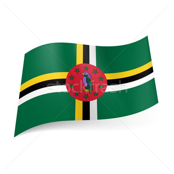 Vlag Dominica kruis driekleur Geel witte Stockfoto © dvarg