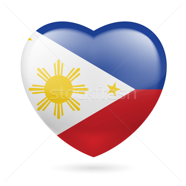 Heart icon of Philippines Stock photo © dvarg