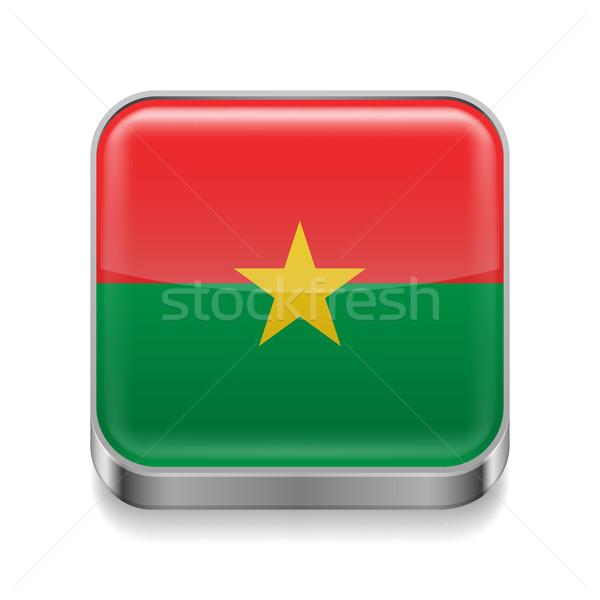 Metal  icon of Burkina Faso Stock photo © dvarg