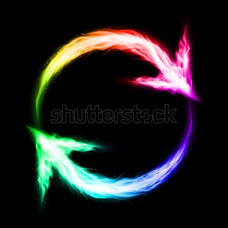 Circular blazing arrows Stock photo © dvarg