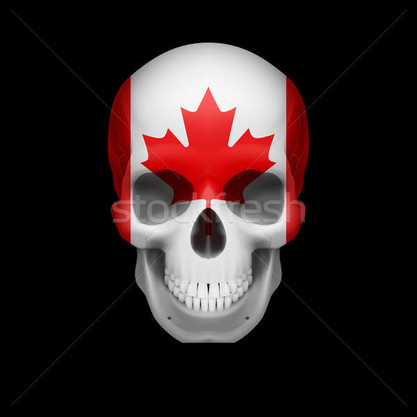 Canadian flag skull Stock photo © dvarg