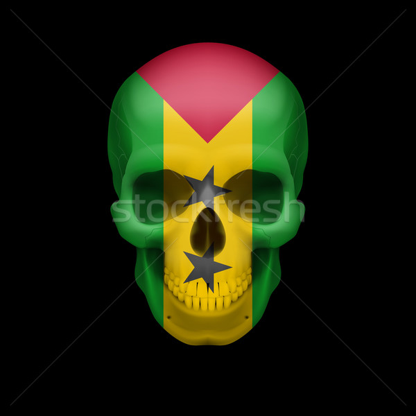 Sao Tome and Principe flag skull Stock photo © dvarg