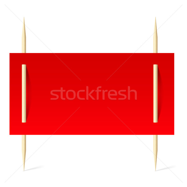 Red paper on toothpicks Stock photo © dvarg