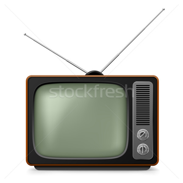 Realistic vintage TV. Stock photo © dvarg