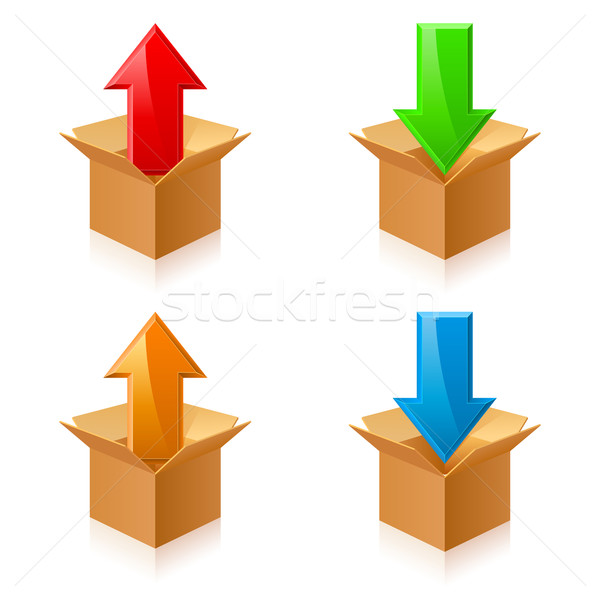 Color boxes and arrows Stock photo © dvarg