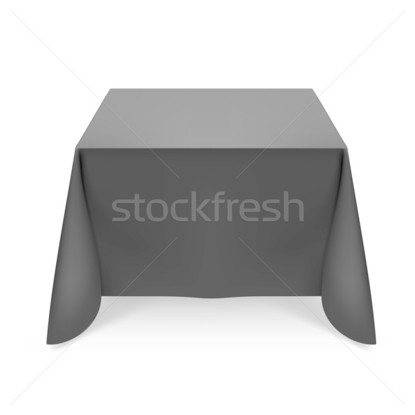 Stok fotoğraf: Siyah · masa · örtüsü · örnek · beyaz · dizayn · ışık