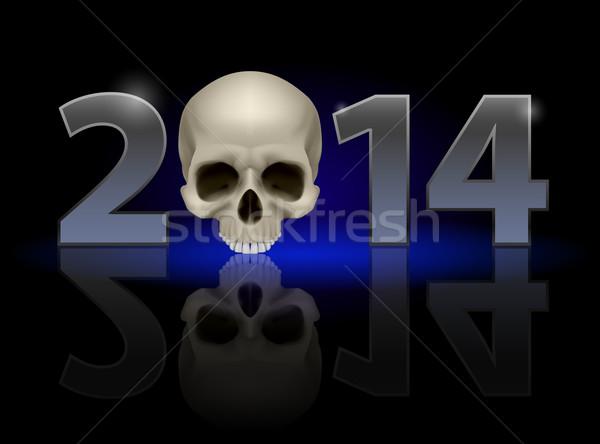 2014 череп металл нулевой слабый Сток-фото © dvarg