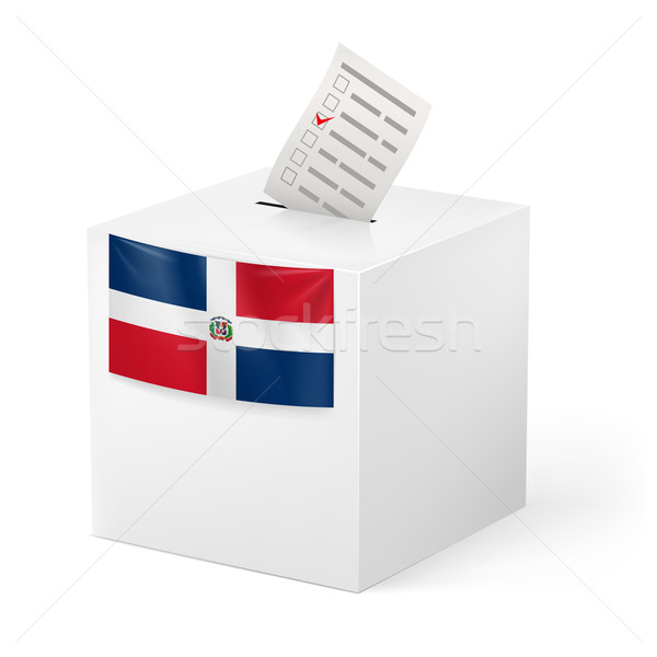 Ballot box with voting paper. Dominican Republic Stock photo © dvarg