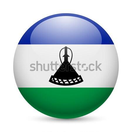 Coeur icône Lesotho amour pavillon couleurs Photo stock © dvarg
