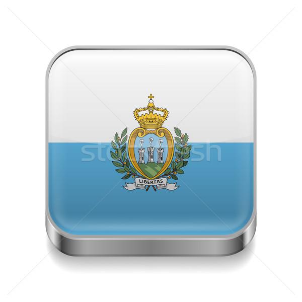 Metal  icon of San Marino Stock photo © dvarg